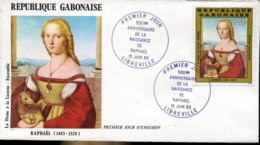 47919 Gabon,  Fdc 1983   Raffael Raphael,  La Dame A La Licorne - Arts