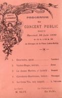 83 LA SEYNE SUR MER CPA PROGRAMME DU CONCERT PUBLIC DONNE LE 30 JUIN 1920 SUR LE  KIOSQUE A MUSIQUE CARTE PRECURSEUR - La Seyne-sur-Mer