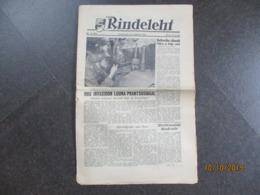 1944 GERMAN WAFFEN SS ELITE ESTONIAN LEGION NEWSPAPER Rindeleht , 0 - 1939-45