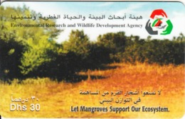 U.A.E. - Let Mangroves Support Our Ecosystem, Etisalat Prepaid Card Dhs 30, Used - Paysages