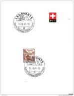 """111 - 1 - Feuillet Avec Cachet Touristique Illustré """"Les Avants"""" 1949 - Poststempel"""