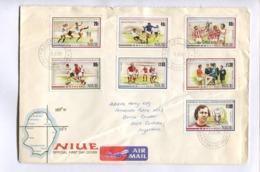 EUROPEAN FOOTBALL CHAMPIONSHIP JUNE 88 - 1988 NIUE FDC FIRST DAY COVER CIRCULEE ARGENTINA AIR MAIL - LILHU - Niue