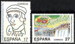 España. Spain. 1992. Efemerides. Juan Luis Vives. Orfeon Pamplones - 1931-Oggi: 2. Rep. - ... Juan Carlos I