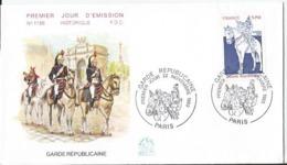 Enveloppe Premier Jour - FDC - Garde Républicaine  - 1980 - Paris - FDC