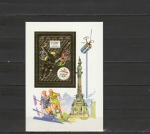 Congo 1992 Olympic Games Barcelona, Football Soccer, Space Gold S/s MNH - Summer 1992: Barcelona