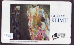 Télécarte Japon * PEINTURE AUTRICHE * GUSTAV KLIMT *  ART (2569)  Japan * Phonecard * KUNST TELEFONKARTE * MAHLEREI - Malerei