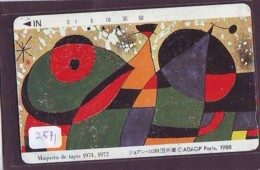 Télécarte Japon * MAQUETA DE TAPIS *  ART (2571)  Japan * Phonecard * KUNST TELEFONKARTE - Pintura