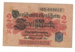 Germany 2 Mk. 1914. F/VF. - [ 2] 1871-1918 : German Empire