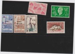 COLONIES FRANCAISES COTE DES SOMALIS (Djibouti) 6 Timbres Neufs Xx 235 251 252 253 287 289 - Côte Française Des Somalis (1894-1967)