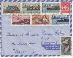Nouvelle Calédonie ,timbre FM + Divers Timbres Sur Lettre De 1958 Pour La France - Neukaledonien