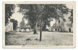 CPA CHAMPAGNE LES MARAIS VERS L'EGLISE ET LES P.T.T., PTT, VENDEE 85 - Frankrijk