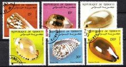 Dschibuti 1982 Mi.nr: 351-356 Meeresschnecken  Oblitérés / Used / Gestempeld - Fossils