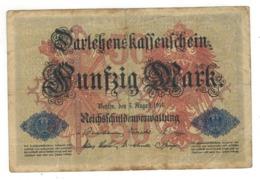 Germany 5 Mk. 1914, USED. - [ 2] 1871-1918 : German Empire