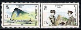 Gibraltar 1982 EUROPA Yv 458/59**,   MNH - Gibraltar