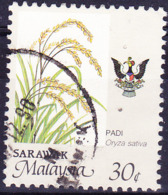 Malaiische Staaten V - Sarawak - Reis (Oryza Sativa) (MiNr: 252) 1986 - Gest Used Obl - Sarawak (...-1963)