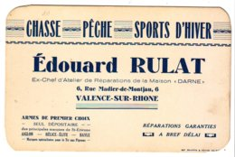 Cdv  Chasse Pêche Rulat  Valence (drome) 14x9cm - Visitekaartjes