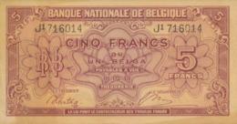 BELGIUM 5 F 1943 - [ 3] Occupazioni Tedesche Del Belgio