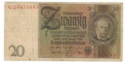 Germany 20 Mk , 1929.  F. - [ 3] 1918-1933 : Weimar Republic