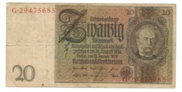 Germany 20 Mk , 1929.  F. - [ 3] 1918-1933: Weimarrepubliek