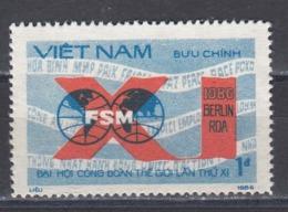 Vietnam 1986 - 11e Congres De La Federation Internationale Des Sydicats, Mi-Nr. 1719, MNH** - Vietnam
