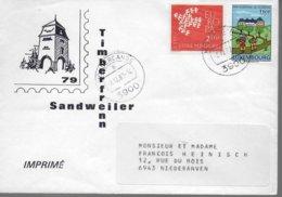 LUXEMBOURG Lettre 1982 Europa Auberge De Jeunesse - Europa-CEPT