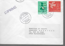 LUXEMBOURG Lettre 1982 Europa  Jardins Familiaux - Europa-CEPT
