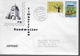 LUXEMBOURG Lettre 1983 Europa Auberge De Jeunesse - Europa-CEPT