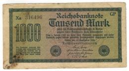 Germany 1000 Mk , 1922.  F. - [ 3] 1918-1933 : Weimar Republic