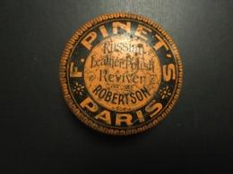 Boîte Ancienne De Cirage Pinet 's Paris Russian Leather Polish Reviver Robertson - Boxes