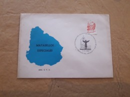 Enveloppe De L'Uruguay Avec Un Cachet Spécial Du Centenaire De La Naissance De San Francisco De Asis - Christentum