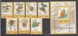 Vietnam 1986 - Plantes Rares, Mi-Nr. 1760/66+Bl. 52, Dent., MNH** - Vietnam