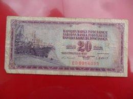 Yugoslavia-Jugoslavija 20 Dinara 1981, P-88b, Low Numbering, Both Notes - Jugoslavia
