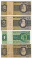 Brazil,  Lot Of 4 Banknotes. USED, See Scan - Brazil