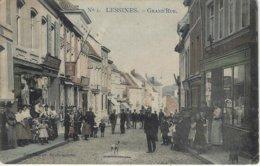 LESSINES GRAND'RUE (N)1 Marcovivi  Et Photogr. Demeulemeester  - COLOR - TOP Rare - Voyagé 1909 - Lessines
