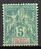 Col17  Colonie Anjouan N° 4 X MH Cote 10,00€ - Anjouan (1892-1912)
