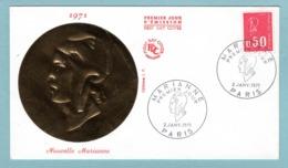 FDC France 1971 - Marianne De Bequet 1971 - 0,50 F Rouge YT 1664 - Paris - FDC