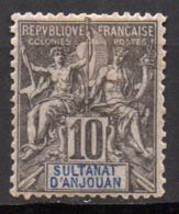 Col17  Colonie Anjouan N° 5 Neuf  X MH Cote 13,00€ - Anjouan (1892-1912)
