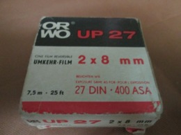 ORWO UP27  2x8mm 7,5m-25ft 25DIN 400ASA UMKHER- FILM - Filmspullen: 35mm - 16mm - 9,5+8+S8mm