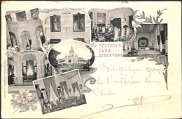 Singapour Singapore - Teutonia Club 1902 (Multi-views, Stengel & Co, German Club, Rare) - Singapour