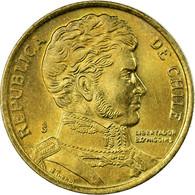 Monnaie, Chile, 10 Pesos, 2000, Santiago, TTB, Aluminum-Bronze, KM:228.2 - Chili