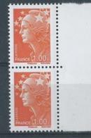 [31] Variété : N° 4235 Marianne De Beaujard Timbre Plus Grand Tenant à Normal  ** - Variétés Et Curiosités
