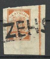 LETTLAND Latvia 1919 ZEHSIS Cecis Provisional Line Cancel On Michel 19 - Lettonie
