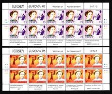1996 Jersey EUROPA CEPT EUROPE 10 Serie Di 2v. MNH** In Minifoglio Minisheet - Europa-CEPT