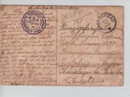 PR7413/ CP Fantaisie écrite De La Hulpe C.Grez-Doiceau 1917 > PDG-POW Camp De Paderborn Censure Du Camp - WW I