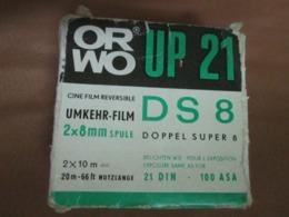 ORWO UP21 DS 8  2x8mm 20m-66ft 21DIN 100ASA UMKHER- FILM - Filmspullen: 35mm - 16mm - 9,5+8+S8mm