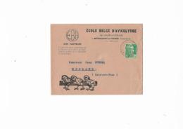 """""""AUX FACTEURS"""".Ecole Belge D'Aviculture.Cachet Circulaire Pointillé Vernois-sur-Mance Hte Saone.Année 1950 . - Marcophilie (Lettres)"""