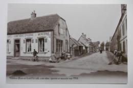 REPRODUCTION - VILLEBON Le Café, Coin Tabac, épicerie Et Mercerie Vers 1910 28 EURE ET LOIR - Autres Communes