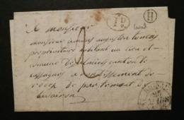 Aveyron.Lettre (De Laval) Avec Cachet Type 12 De Rignac.Boite Rurale H - Marcofilia (sobres)