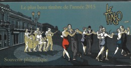 Bloc Souvenir N°129,  Plus Beau Timbre De L'année 2015-Le Tango, Sous Blister N++ - Souvenir Blokken