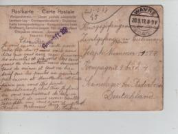 PR7414/ CP Fantaisie écrite De La Hulpe C.Wavre 1917 > Camp De Paderborn Censure  Geprüft - WW I
